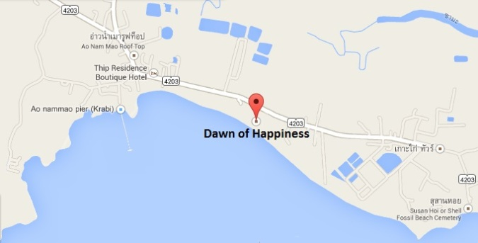 dawn of happiness on google maps2